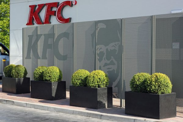 KFC Drive Thru Warrington Ornamental Metalwork ImagePerf